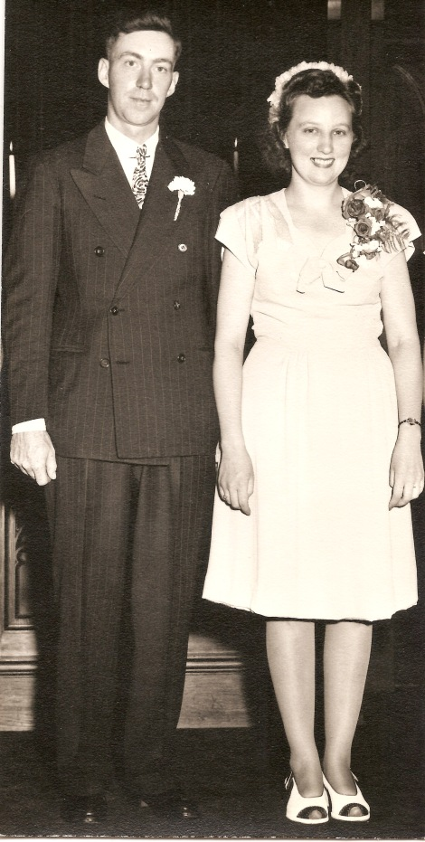 My grandparents Ed and Millie on their wedding day 70 years ago.