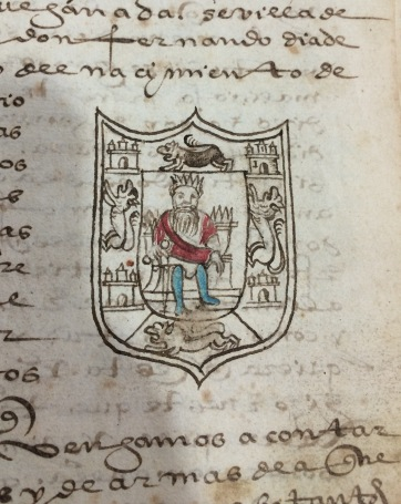 Some coats of arms are pretty detailed, but not always fully colored!