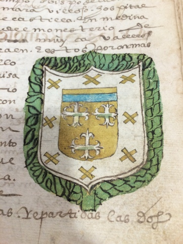 The detailed coat of arms for the Barrientos family.