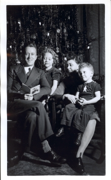 Ted with his parents, Erwin and Dorothy Wischmeyer, and his sister Trudy, about 1942.