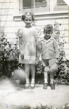Ted and his sister Trudy, about 1943.