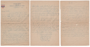 Letter dated 14 Sept 1918 from Glenn Kaiser to his mother