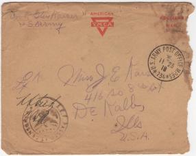 Kaiser_Glenn_WWI_letter_1918-11-23_envelope