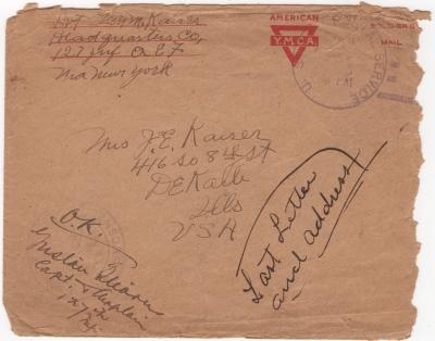Kaiser_Glenn_WWI_letter_1919?_envelope