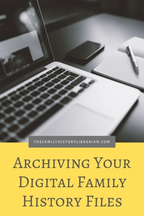 Archiving Your Digital Genealogy Files