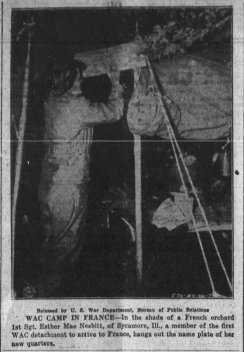 WAC Esther Mae Nesbitt newspaper photo