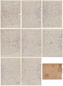 Letter dated 12 Nov 1918 from Glenn Kaiser to his mother