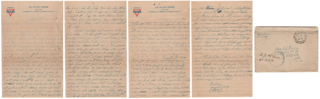 Letter dated 25 December 1918 from Glenn to his mother