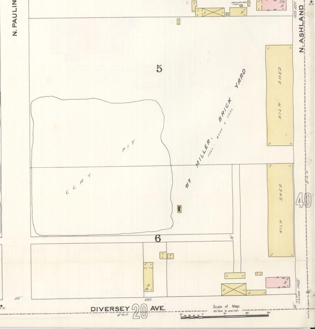 1894 map of William Miller's brickyard