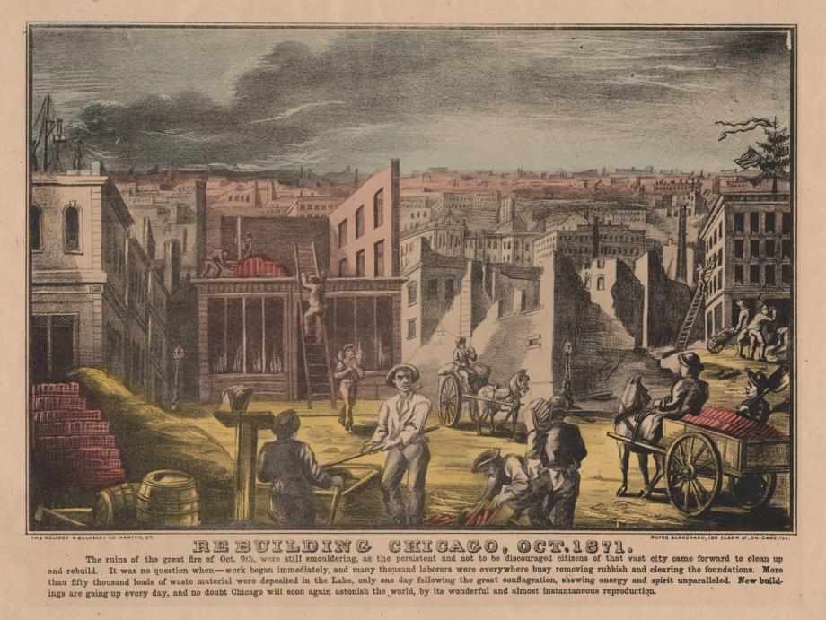 Rebuilding Chicago, Oct. 1871